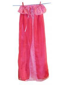 Capa de seda reversible rosa/rojo