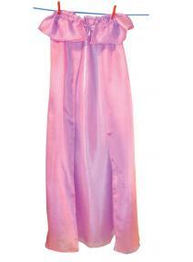 Capa de seda reversible rosa/lavanda