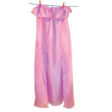 Capa de seda reversible - rosa - lavanda.