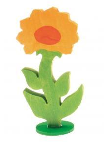 Flor Calendula de madera