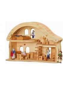 Casa de muñecas con balcón