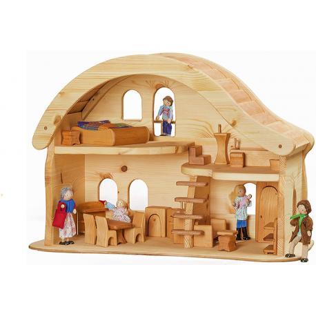 Casa de muñecas con terasa