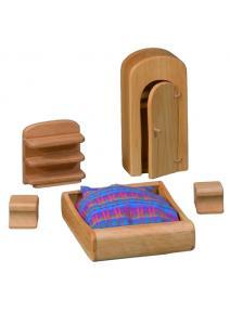Muebles de dormitorio para casa de muñecas