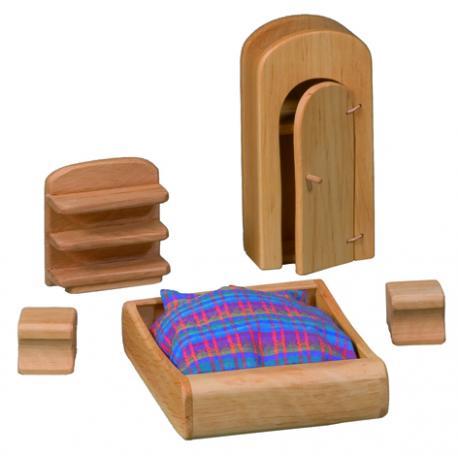 Muebeles de dormitorio para casa de muñecas