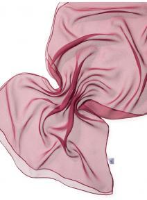 Chal de seda chiffon - rojo burdeos