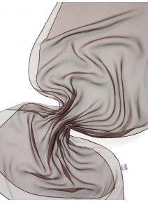 Chal de seda chiffon - marrón oscuro