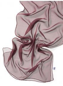 Chal seda chiffon - rojo burdeos