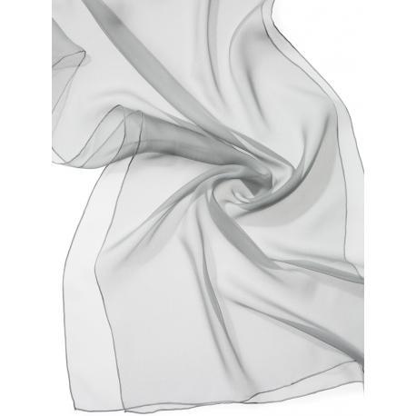 Chal de seda chiffon - gris