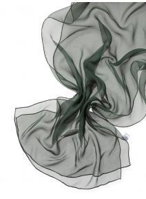 Chal de seda chiffon - verde abeto