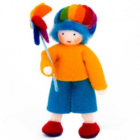 Muñeco niño arco iris