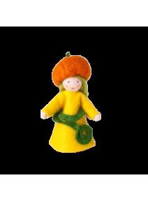 Muñeca flor calabaza