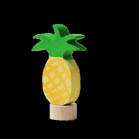 Figura de madera piña