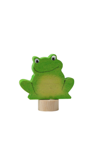 Figura de madera rana sentada