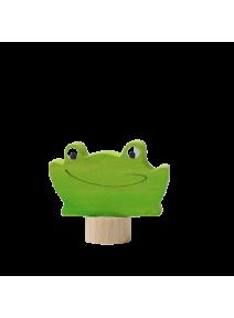 Figura de madera rana