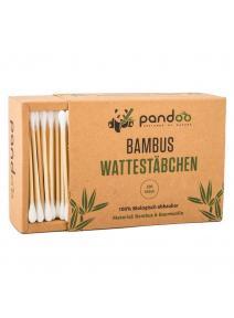 Bastoncillos para los oídos de bambú y algodón orgánico