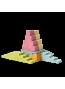 Bloques en escalera pastel Grimm's