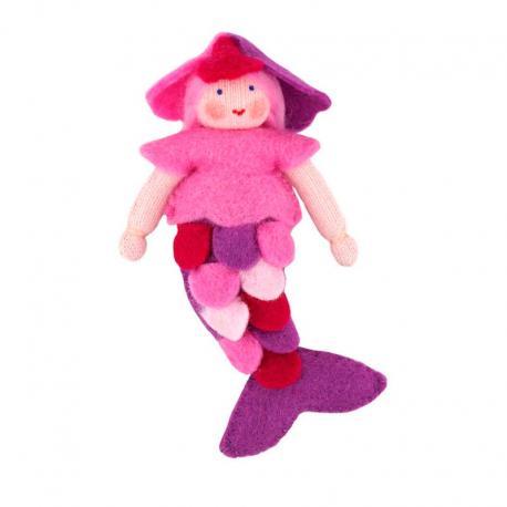Muñeca Sirena rosa