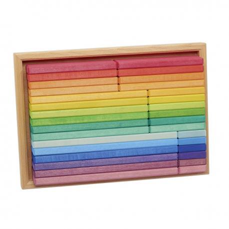 Caja de construcción arco iris