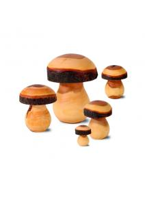 Setas de madera natural