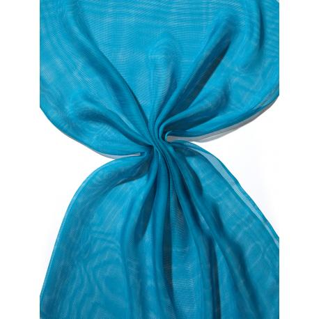 Chal de seda Tissu de gasa - azul turquesa.