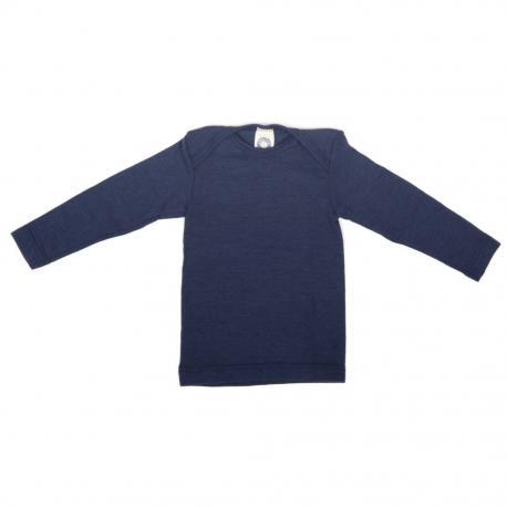 Camiseta interior de lana orgánica y seda