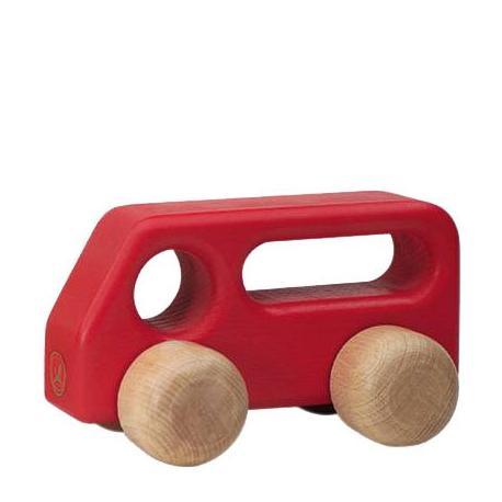 Autobús de madera rojo