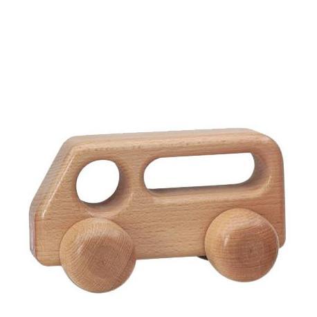 Autobús de madera natural