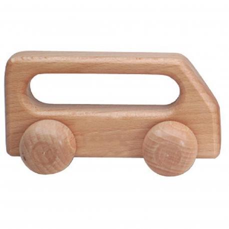 Autobús de madera pequeño natural