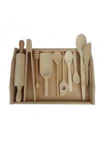 Accesorios de cocina de madera natural  Martin