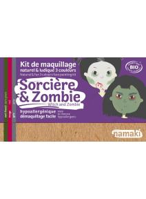 Kit de maquillaje infantil bio Bruja y Zombie