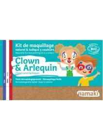 Kit de maquillaje infantil bio Payaso y Arlequín