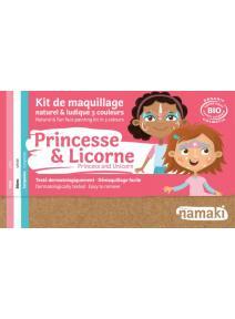 Kit de maquillaje infantil bio Princesa e Unicornio