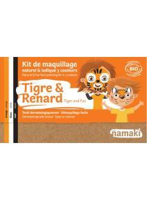 Kit de maquillaje infantil bio Tigre y Zorro