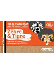 Kit de maquillaje infantil bio Cebra y Tigre