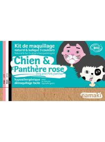 Kit de maquillaje infantil bio Perro y Pantera rosa