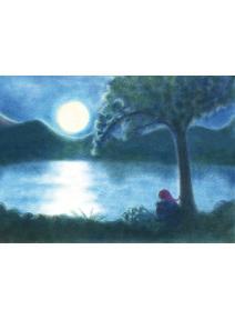 Postal la noche y la luna