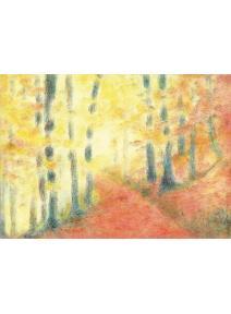 Postal el bosque en otoño