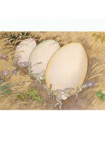 Postal Huevos de Pascua