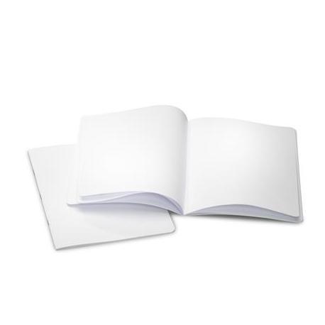 Cuaderno vertical blanco