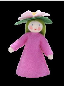 Muñeca flor rosa salvaje