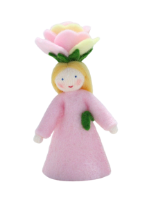 Muñeca flor rosa