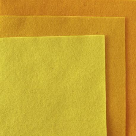 Fieltro de lana 100% tonos amarillos