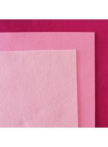 Fieltro de lana 100% tonos rosas