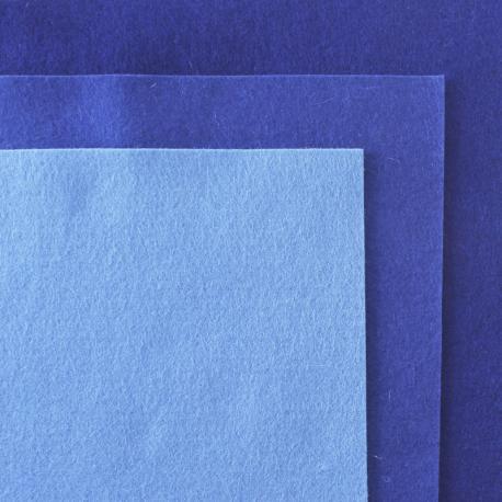 Fieltro de lana 100% tonos azules