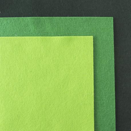 Fieltro de lana 100% tonos verdes