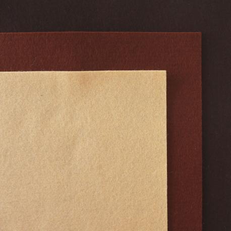 Fieltro de lana 100% tonos marrones