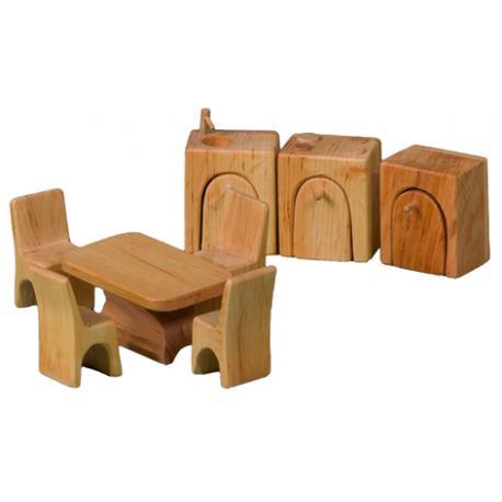 Muebles de cocina para casa de muñecas