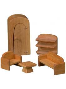 Muebles de salon para casa de muñecas
