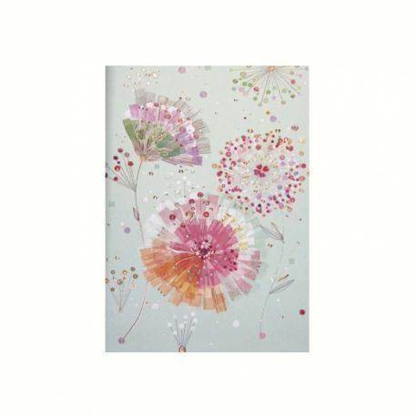Cuaderno con rayas Flores