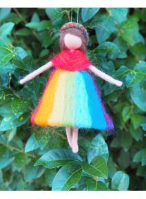 Hada niña arcoiris